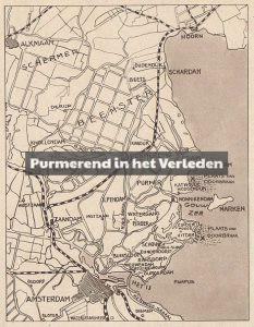 kaart van waterland watersnood 1916